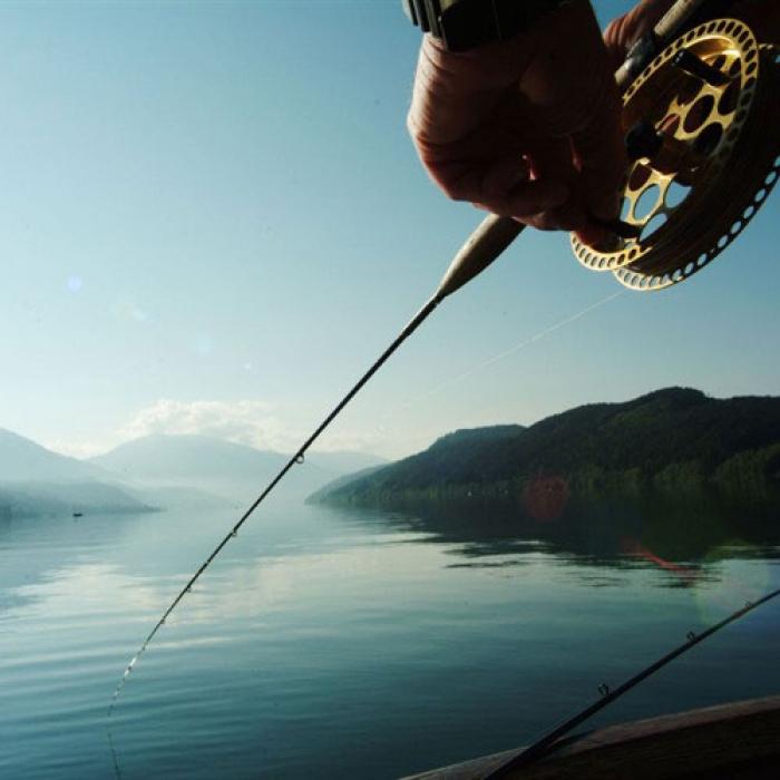 Fishing at Lake Millstatt